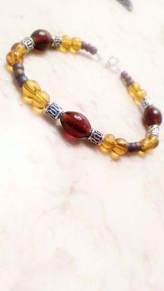 Earthy glass bead bracelet by ZEquiDesigns on Etsy, $25.00
