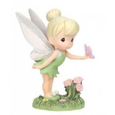 "Disney Showcase Collection, ""Wings Of Wonder"", Tinker Bell, Bisque Porcelain Figurine, - Precious Moments Tinkerbell Wings, Peter Pan And Tinkerbell, Tinkerbell Fairies, Disney Fairies, Precious Moments Quotes, Disney Precious Moments, Precious Moments Figurines, Disney Figurines, Collectible Figurines"