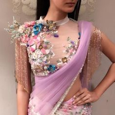 101 trending blouse designs for all occasions saree blouse patterns bling sparkle. Saree Blouse Patterns, Sari Blouse Designs, Fancy Blouse Designs, Bridal Blouse Designs, Saree Jacket Designs Latest, Blouse Back Neck Designs, High Neck Blouse, Sheer Blouse, Floral Blouse