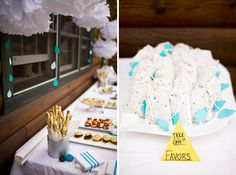 Rain Cloud Baby Shower (the favours are so cute!)