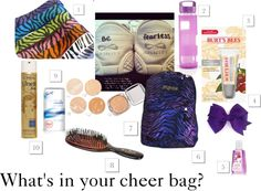 """""""What's in your cheer bag?"""" by canadiancheerstar on Polyvore"""