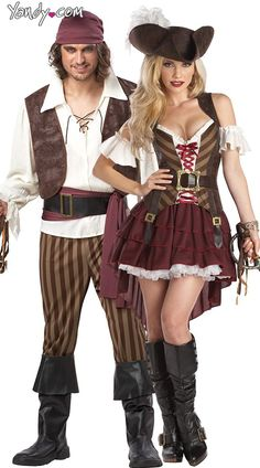 Couple Pirate Costumes | ... Couples Costume, Rogue Pirate Couples Costume…