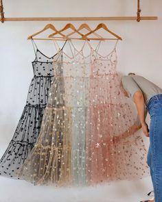 Spaghetti Straps Tulle Long Women's Dresses Fashion Bling Bling Dress – Dres… – Best Of Likes Share Women's Dresses, Pretty Dresses, Beautiful Dresses, Fashion Dresses, Bridesmade Dresses, Long Dress Fashion, Sheath Dresses, Modest Fashion, Fashion Pants