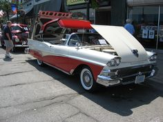 Bet you thought the hardtop convertible was a new concept? 58 Ford with Retractable Roof ... JamesAZiegler.com