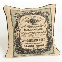 Vintage Label Accent Pillows