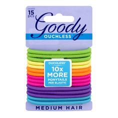 Pack) Goody Ouchless Ponytails Per Elastic Medium Hair, Piece(S), Grey Birthday Goals, Bulk Candy, Drugstore Makeup, Hair Ties, Hair Hacks, Medium Hair Styles, Metal, Ponytail, Counting