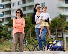 Khloe and Kourtney in Miami with Mason