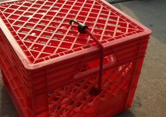 Page 1 of 3 - Milk Crate Tackle and storage Box - posted in Kayaking and Kayak Fishing Forum: Pic 1 - Materials: Crate and Large Wire TiesPic 2,3,4 - Cut off bottom sectionPic 5 & 6 - Mark out were to drill for wire ties and drill