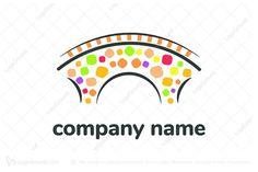 Childhood Bridge Logo Preschool Colors, Preschool Centers, Learning Centers, Bridge Logo, Reading Tree, Education Logo Design, Compass Logo, Gift Logo, People Logo