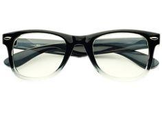 Retro Clear Lens Wayfarer Glasses Frames Black W521