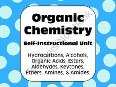 Organic Chemistry: Self Instructional Unit for Senior Chemistry & Biology from AwesomeScience on TeachersNotebook.com (14 pages)  - Perfect for senior chemistry or biology students!