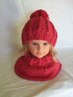 cappello + scalda collo maglia bimba di mod'o su DaWanda.com