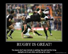 How many sports beat the blood and sweat out of the opposing team then drink and sing together after the game. Only a gentlemen's sport played by hooligans Rugby Sport, Sport Sport, Rugby League, Rugby Players, Rugby Rules, South African Rugby, Rugby Girls, Nz All Blacks, Womens Rugby