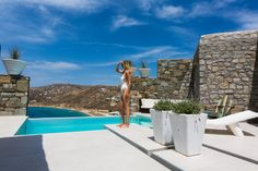 The secluded brand new private villa Madonna with two bedrooms and a guest house beautifully situated above Elia Beach offers the best views of the famous sandy beach and features an infinity pool to relax and enjoy Mykonos Hotels, Villa With Private Pool, Jacuzzi, Nice View, Madonna, The Incredibles, Luxury, Pools