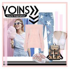 """yoins"" by sahrish-hossain ❤ liked on Polyvore featuring STELLA McCARTNEY, Bandana and adidas Originals"