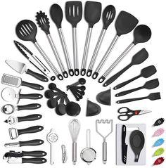 Kitchen Canister Sets, Kitchen Utensil Set, Cool Kitchen Gadgets, Cool Kitchens, Kitchen Tools, Kitchen Dining, Best Cooking Utensils, Stainless Steel Utensils, Baking Set
