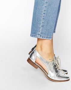 ASOS | ASOS MIGHT YOU Cut Out Leather Jazz Shoes at ASOS