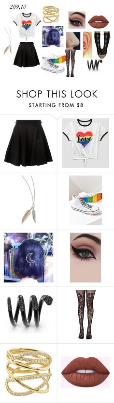 """2//9,10"" by meow-eow-ow-w-ow-eow-meow ❤ liked on Polyvore featuring Kenzo, Mad Engine, Converse, Concrete Minerals, Leg Avenue and Lana"