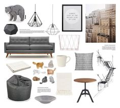 """""""City chic"""" by rheeee ❤ liked on Polyvore featuring interior, interiors, interior design, casa, home decor, interior decorating, Thrive, Bloomingville, Auggie e canvas"""