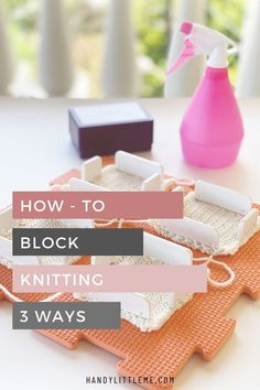 Blocking Knits - Learn how you can block your knitting in 3 different ways so that you can reshape it for a perfect finish! Blocking is the process of wetting or steaming your final pieces of knitting to set the finished size and even out the stitches. You can use blocking mats to block your garments, just be sure that your knitted piece lies flat and fully dries so that its shape sets. Free Knitting Patterns For Women, Knitting Designs, Knitting Projects, Knitting Tutorials, Knit Stitches For Beginners, Knitting Basics, Knitting Stitches, Learn How To Knit, How To Start Knitting