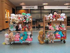 It's a stuffed animal sleepover at the library! This would be a very fun idea to try this summer with the theme being night time!