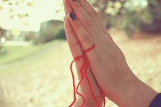 An invisible red thread connects those who are destined to meet regardless of time, place or circumstance. The thread may stretch or tangle, but it will never break. (Chinese proverb) red thread of fate by ~Kumiro on deviantART