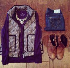 shirt, vest, necklace