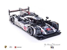 """Links below Hello Everyone, As I had promised, here is the 2016 version (Le Mans) of the Porsche 919 in LEGO. This model was built to continue the """"a Brick Build Homage"""" and to update some aestethic and interior details regarding the previous version. Functionalities Not much change from the previous version but this time I was able to add some extra attention to the illumination since the headlights are bigger and I was able to add two extra pairs of LEDs. Regarding the moving p..."""