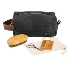 The Groomsmen Waxed Canvas and Leather Dopp Kit with Beard Grooming Set is the perfect attendant gift. The toiletry bag features a water-resistant wax cov Unique Gifts For Dad, Unique Birthday Gifts, Unusual Gifts, Waxed Canvas, Canvas Leather, Beard Grooming Kits, Dog Grooming, Canvas Travel Bag, Stocking Stuffers For Men