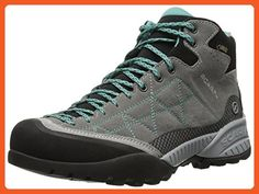 Scarpa Women's Zen Pro Mid GTX Hiking Boots Mid Grey / Lagoon 42 and Hiking Sock Bundle - Boots for women (*Amazon Partner-Link)