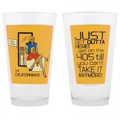 Saturday Night Live The Californians Pint Glass