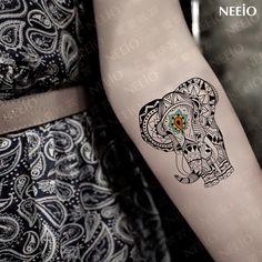 Online Shop Temporary tattoo elephant pattern tattoos sticker waterproof sexy fake animal design body art free shipping |Aliexpress Mobile