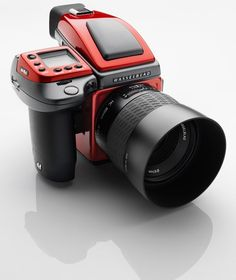 Literally, the Ferrari of cameras. Hasselblad Ferrari Limited Edition Medium Format DSLR Camera Kit with HC Lens Medium Format Camera, Camera Equipment, 3d Prints, Camera Gear, Camera Tips, Film Camera, Vintage Cameras, Antique Cameras, Photography Camera
