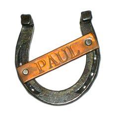 Vintage horseshoe with Paul name plate marked Horseshoe Forge Lexington Mass by sweetalicelovesyou on Etsy