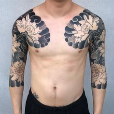 full sleeve tattoos with meaning Tattoo Japanese Style, Traditional Japanese Tattoos, Japanese Tattoo Designs, Japanese Sleeve Tattoos, Black Sleeve Tattoo, Full Sleeve Tattoo Design, Arm Sleeve Tattoos, Asian Tattoos, Black Tattoos