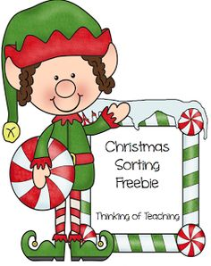 Classroom Freebies Too: Sorting....Christmas Style