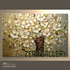 Wholesale Painting - Buy High Quality Cost Effective Handicraft Modern Palette Knife Flower Blossom Lily Oil Painting Orchid Tulip Floral on...