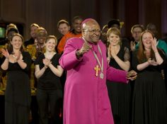 The former Anglican archbishop of Cape Town Desmond Tutu dances with the choir after he received the 2013 Templeton Prize at the Guildhall in central London on May REUTERS/Paul Hackett Desmond Tutu, Lets Dance, Giving Back, Choir, Human Rights, Beyonce, Charity, London, Celebrities