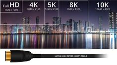 Beyond 4K UHD: 10K HDMI 2.1 Ultra High-Speed Cable Coming With Dynamic HDR