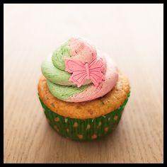 Strawberry and green mint Vegan Cupcake