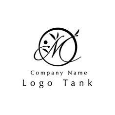 Mと植物のロゴ 黒、M、女性,シンプル、繊細、モダン,美容、サロン、エステ、ショップ,ロゴ作成、ロゴマーク、ロゴ、制作 Name Logo, Beauty Logo, Letter Logo, Company Names, Logo Design, Lettering, Logos, Awesome, Wedding