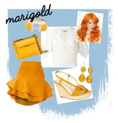 """""""Marigold"""" by the-shadow371 on Polyvore featuring Anne Klein, Lanvin, Marni, Siobhan Molloy and Hermès"""