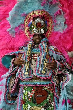 Missing the mardi gras indians!  A Golden Blade Mardi Gras Indian in New Orleans, by Kichea S Burt