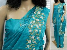 Saree Embroidery Design, Embroidery Neck Designs, Creative Embroidery, Simple Embroidery, Embroidery Patterns, Hand Embroidery, Best Blouse Designs, Silk Saree Blouse Designs, Blouse Patterns