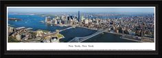 New York, New York City Skyline Panorama Picture Framed