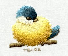 Trish Burr Starter Project | embroidery -- blue & yellow bird