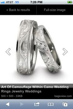 Western wedding bands- I am in love with these