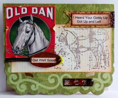 Welcome to the Crafty Card Gallery: When Your Giddy Up has Got Up and Left