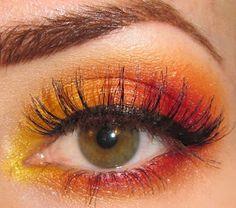 Fiery Sunset Eye Makeup Tutorial