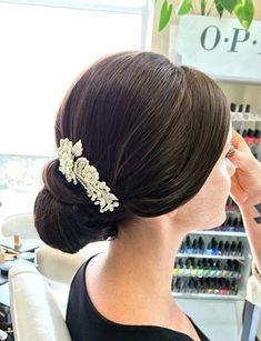 wedding+chignon+with+a+hair+piece